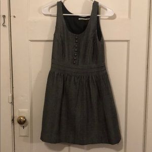 Herringbone dress with buttons!